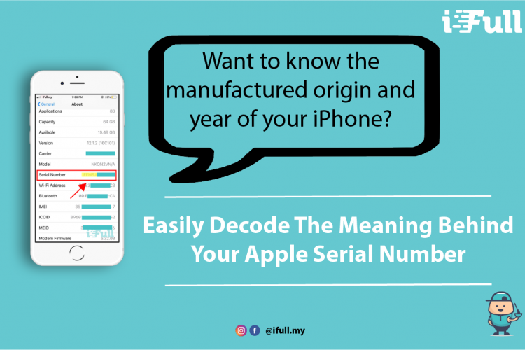 [Apple Tips Infographic] Meaning of your Apple Iphone Serial Number