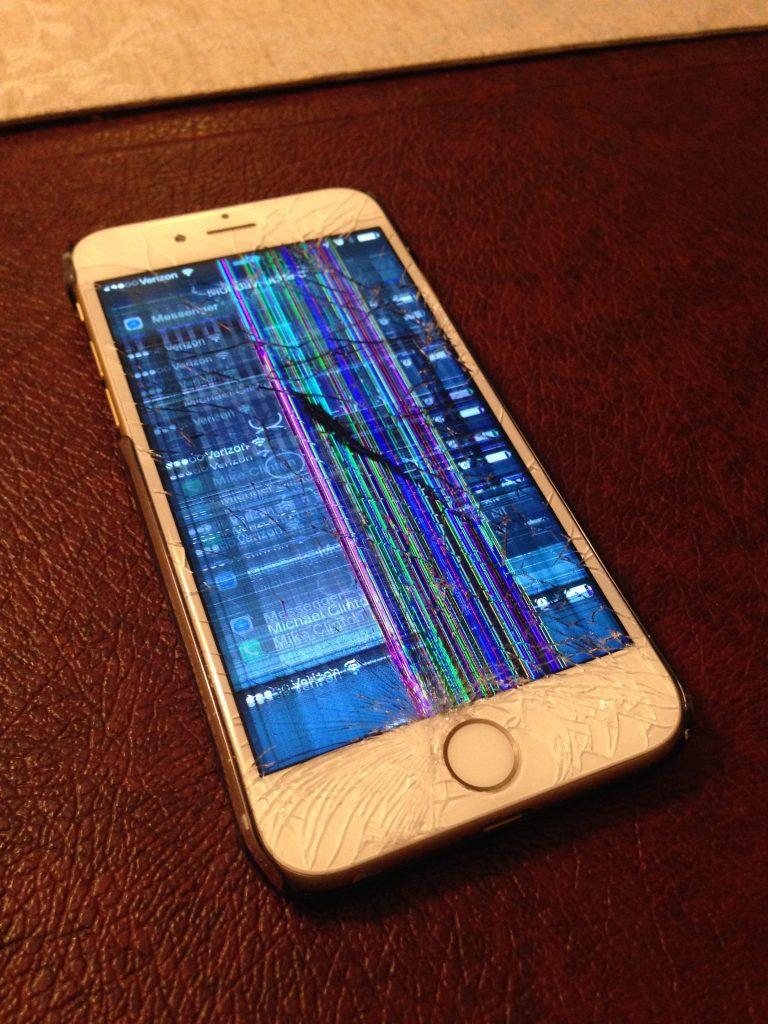 Internal screen crack