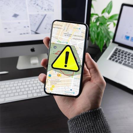 Erreur GPS iPhone